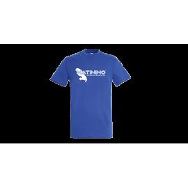 T-shirt homme col rond bleu