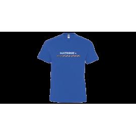 T-shirt homme col V bleu